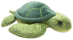 Sparkly green turtle 7""