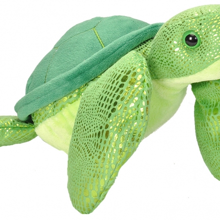 Sparkly green turtle 10""