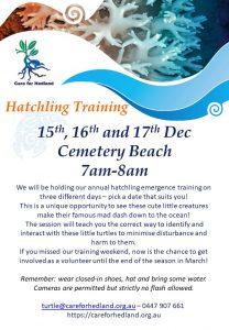 Hatchling training session